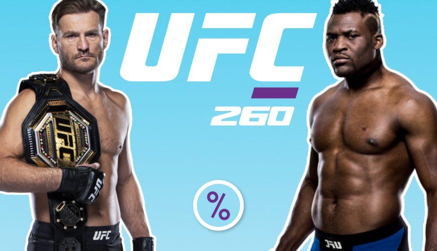 UFC 260 betting odds