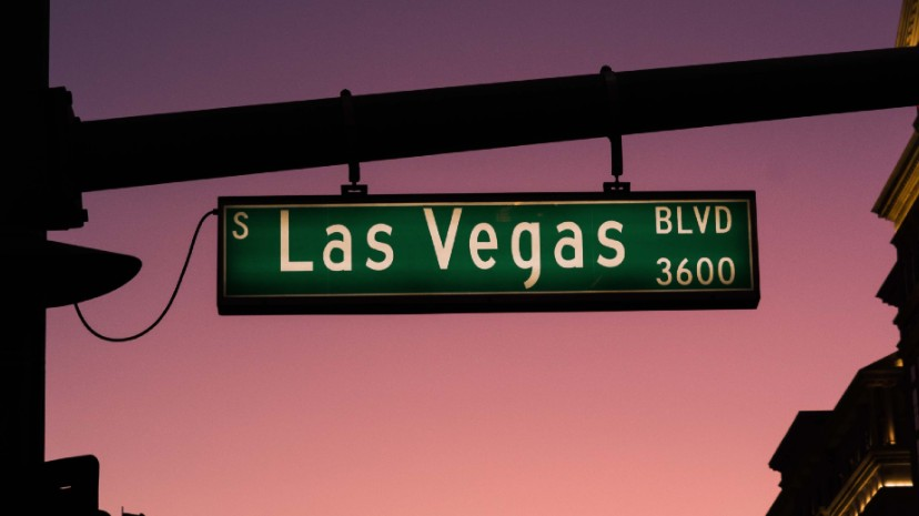 Street sign from Las Vegas Boulevard