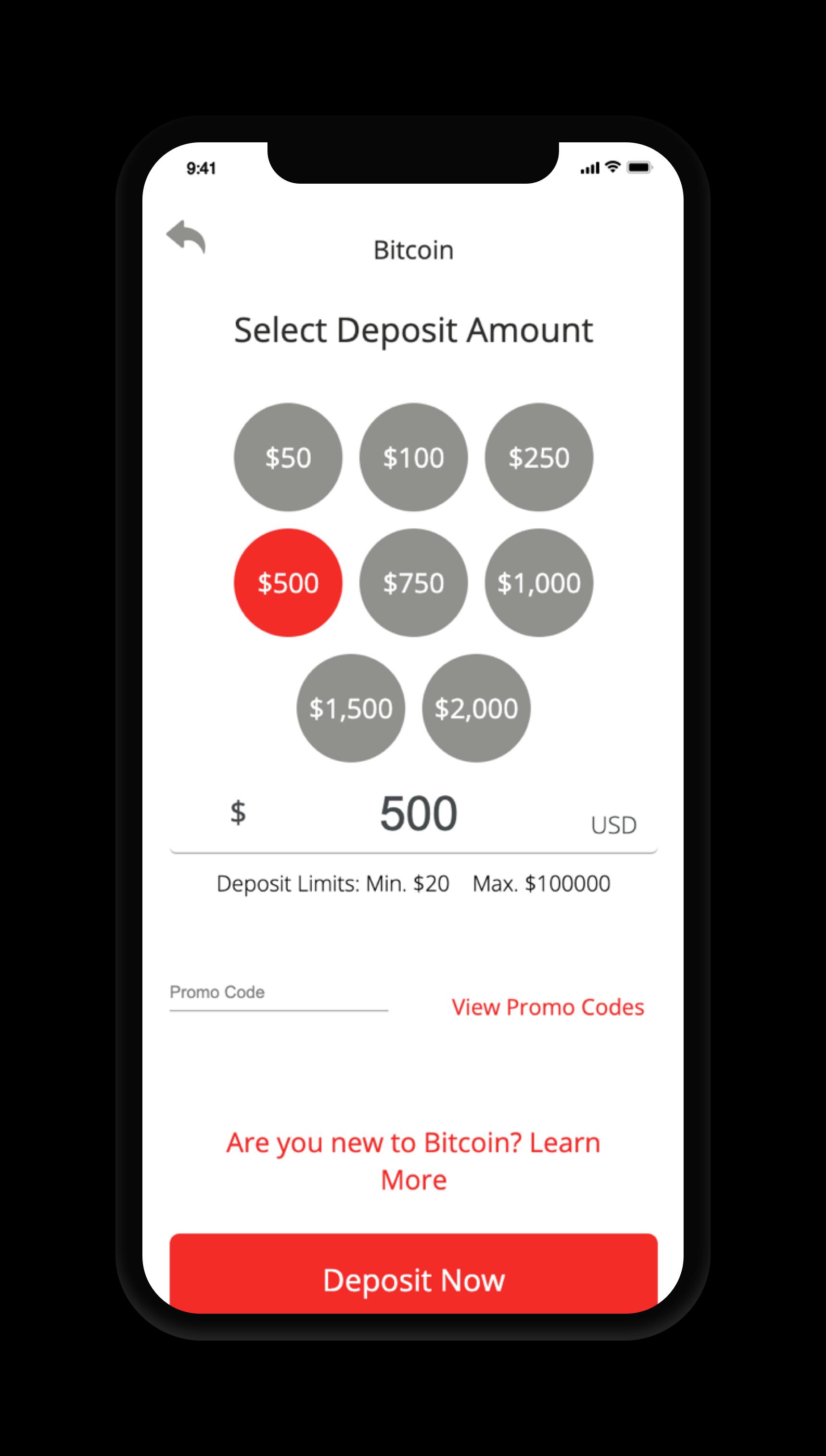 BetOnline Deposit Screen